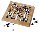 Tic-Tac-Ku Solid Wood Game (Blue/White) by Mad Cave Bird Games by Mad Cave Bird Games
