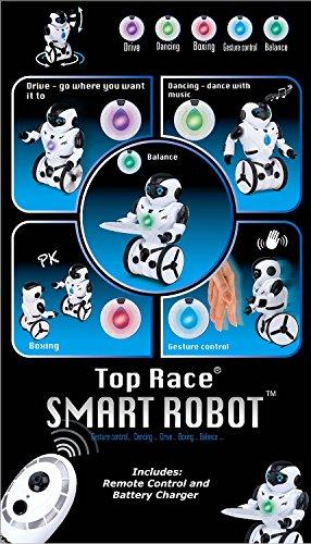 51jwGb%2BbjUL - Top Race® Robot de Control Remoto, Robot Inteligente con Equilibrio Automático, 5 Modos de Funcionamiento. Baile, Boxeo, Conducción, Carga, Gesto. Transmisor 2.4Ghz