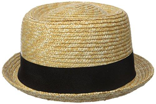 Kangol Unisex Hüte Wheat Braid Porkpie Yellow (natural)