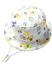 9844e8fe3b3c iClosam Enfant Chapeau De Plage Chapeau Impression de Dessin animé Pêcheur  Coton Bébé Chapeau ...