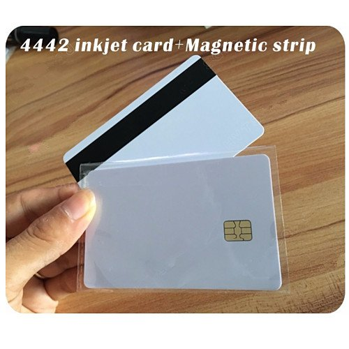 100pcs Printing SLE4442 Chip con Hi-Co Magnetic Stripe PVC Blank Card PVC Composite Card per Epson/Canon stampante inkjet