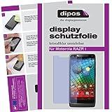 dipos I 2X Schutzfolie klar passend für Motorola RAZR I Folie Bildschirmschutzfolie
