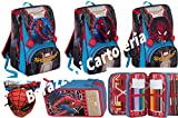 Zaino Spiderman Homecoming new 2018 - zaino sdoppiabile Big Seven - Pattina Sfogliabile - 28 Lt - Schoolpack + ASTUCCIO 3 Scomparti + Maschera Spiderman