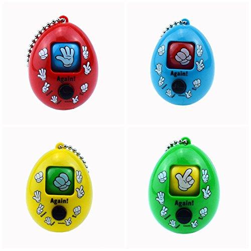 FingerGuessing - Llavero de juguete divertido para niños, juguetes para adultos, 2 unidades, color al azar Divertido juego: Juega con tus hijos el juego de dedos y presiona el botón y aparecerá diferentes patrones. Fácil de transportar: el diseño en ...