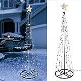 Cercate ancora una straordinaria e speciali di Natale decorazione per la tua casa, o il vostro giardino? È stilizzato con albero di Natale in metallo, con catene di luce LED e una stella luminosa sulla parte superiore è ora possibile. La form...