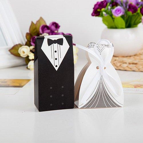 Sumymy Geschenktüten und Geschenk-Zubehör, kreatives Braut und Bräutigam, Süßigkeiten-Box für...
