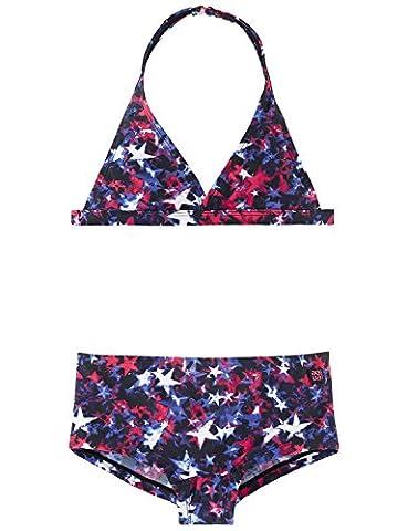 Schiesser Mädchen Bikini Aqua Neckholder - Bikini 156018, Gr. 152,