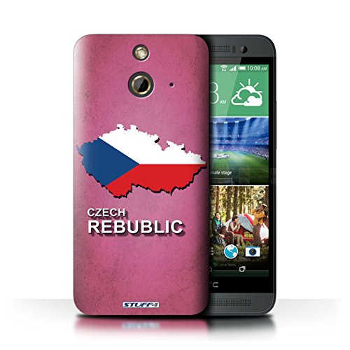 Kobalt® Imprimé Etui / Coque pour HTC One/1 E8 / Amérique/Américain/USA conception / Série Drapeau Pays Tchèque/Czechian