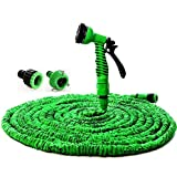 By Sonani Expandable Magic Flexible Water Hose 50 Ft / 15 M EU Hose Plastic Hoses Pipe With Spray Gun To Watering Washing Cars(50ft&15m)