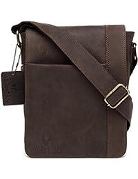 WildHorn Leather 21.59 cms Brown Messenger Bag (WHM228)
