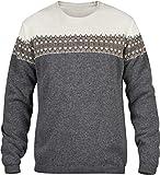 Fjällräven Övik Scandinavian Sweater Men - Strickpullover mit Wolle, Grey (020), Gr. XL