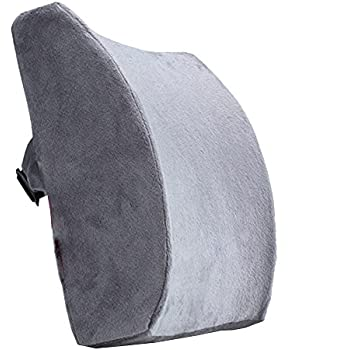 Foam Lumbar Support Back Cushion With velvet Cover Balanced Firmness Designed for Lower Back Pain Relief Ideal Back Pillow for puter fice Chair