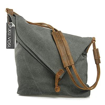 Women's Cross-Body Bags, P.KU.VDSL Canvas Crossbody Shouder Bag Canvas Bag Travel Bag, College Style Messenger Bag Hobo Bag Unisex School Satchel, Vintage Bucket Handbag - inexpensive UK light store.