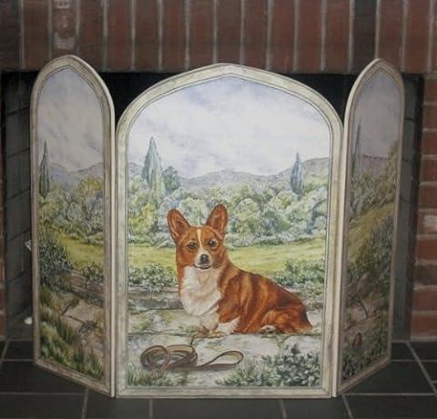 Stupell Home 3Panel Outdoor Deko Hund Kamin Bildschirm, 31von 44von .375-inch