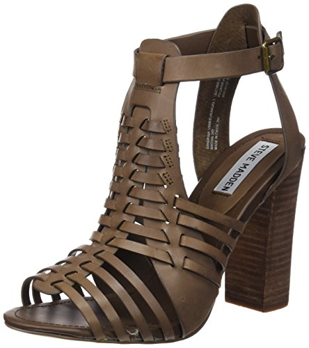Steve Madden - Sandrina, Sandali Donna Marrone (brown leather)