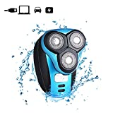 xincare Rasoio Rotante Elettrico USB per Uomo, Tagliacapelli Barba Ricaricabile Trimmer per Viso Impermeabile IPX7 360 Rotante Wet & Dry