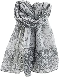 RJM Floral Two Tone Square Scarf - 3 colours GL045