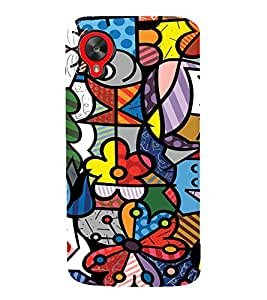 EPICCASE Funky art Mobile Back Case Cover For LG Google Nexus 5 (Designer Case)