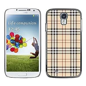 [Neutron-Star] Snap-on Series Coque de protection rigide Cas Case pour Samsung Galaxy S4 [Motif anglais Habillement Tissu Haute Couture]