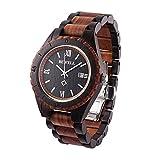 BEWELL impermeabile al quarzo orologio da polso regalo per ragazzi Orologio in legno tempo libero