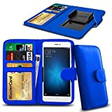 N4U Online® Blue Clip On Series PU Leather Wallet Book