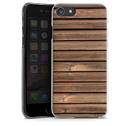 Apple iPhone X Silikon Hülle Case Schutzhülle Holz Look Holzlatten Planken Hard Case transparent
