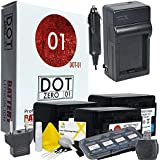 3x DOT-01 Brand Canon HF R700 Batteries And Charger For Canon HF R700 Camera And Canon HFR700 Accessory Bundle For Canon BP727 BP-727
