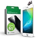 GIGA Fixxoo iPhone 6s Plus Komplettes Display Ersatz Set Weiß, LCD mit Touchscreen, Retina Display, Kamera & Näherungssensor - Einfache Installation für Do-It-Yourself