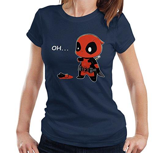 Chibi Deadpool Oh Women's T-Shirt Navy blue
