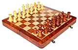 Royal Craftgasmic Folding Magnetic Travel Chess Board Set Wooden Game Handmade, Classic Game of Brilliance, Small Chess Pieces, 12 Inches