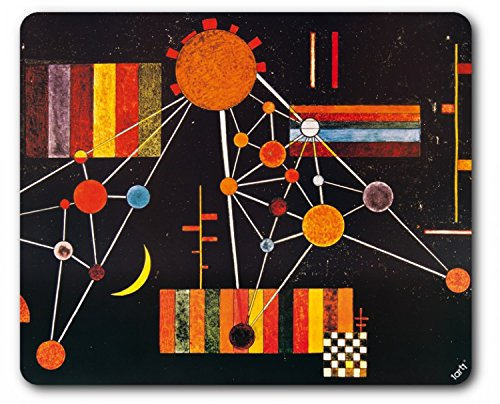 Kandinsky Kunst Poster (1art1 89598 Wassily Kandinsky - Geflecht Von Oben Nr 231, 1927 Mauspad 23 x 19 cm)