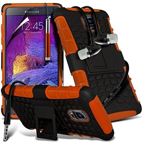 Samsung Galaxy Note 5 Étui Houssecas Phone Holder Universal Support de voiture tableau de bord et pare-brise pour iPhone yi -Tronixs Shock proof+ Earphones (Orange)