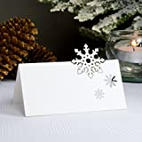 let it snow christmas snowflake name place cards by paper baker table decorations