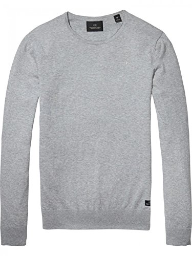 Scotch & Soda Nos-Classic Cotton Melange Crew Neck, Pull Homme Bleu (Night 58)