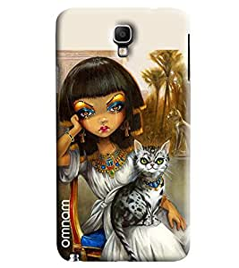 Omnam Chinese Girl With Cat Printed Designer Back Cover Case For Samsung Galaxy Note 3 Neo