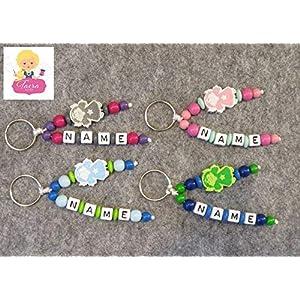 Schlüsselanhänger mit Namen Gravur - Schutzengel individuell gestalten - Geschenk - Glücksbringer - Buchstabenwürfel