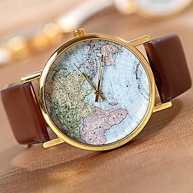 Schöne Uhren, Unisex Weltkarte style watch / Jahrgang Weltkarte / Antiken-Weltkarte / Damenuhr /...