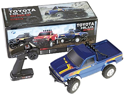 Thunder Tiger T6603-F132-A2 Toyota Hilux 1:12 Pick-Up Truck, Offroad 4WD, Rtr, Blau