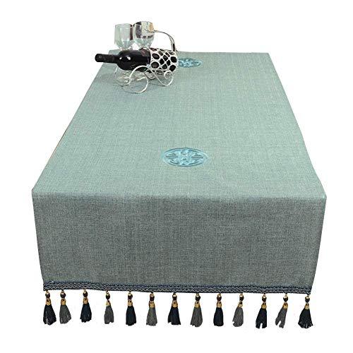 ZXL Tischfahne Light Blue Table Runner, für Hochzeitsbankett Dekoration, staubdichte TV-Schrank Tischdecken (Größe: 60X180cm) - Light Blue Runner