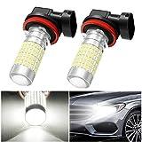 AMBOTHER 2x H11-Xenon-LED-Leuchtmittel für Auto, Tagfahrlicht, weiß, 12V, 1200Lumen, 6000K - PWIXOGKK54