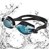 Dafunna Schwimmbrillen Antibeschlag UV-Schutz kein Auslaufen mit Austauschbarer Nasensteg In 3 Größen für