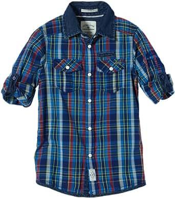 TOM TAILOR Kids Jungen Hemd rude crew checked shirt/401, Einfarbig, Gr. 176, Blau (blue dephts)