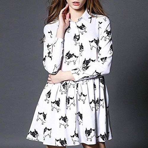 Pinkyee Damen Kleid Mehrfarbig - Pattern Color