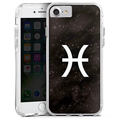 Apple iPhone X Bumper Hülle Bumper Case Glitzer Hülle Fische Sternzeichen Astrologie Bumper Case transparent