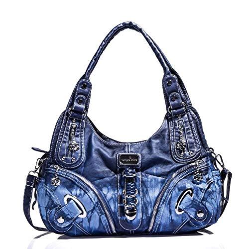 Shiny shop Glänzendes Geschäft Schultertaschehandtasche der neuen Frauen, tragbare diagonale Handtaschengröße der großen Kapazität der Modetrend: 39 * 12 * 30CM
