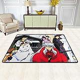 Lee My Alfombra De Diseño de Anime Kimono de Japón Estampada para salón Dormitorio baño sofá Silla cojín,a,63'x79'/5.2'x6.5'