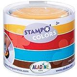 Aladine - Stampo Colors Arlequin - Encreurs Taille XL de Couleur - Encre Lavable - Activités Manuelles et Loisirs Créatifs po