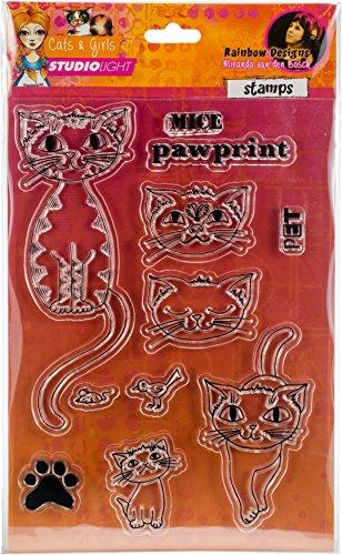 Studio Light Mixed Media Rainbow Designs Stamps-Cats & Girls-Mice