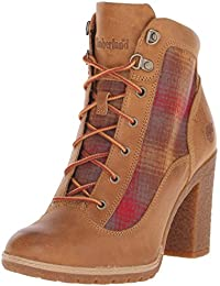 Timberland Glancy Fabric and Leather Ladies Heel Boot
