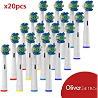 12 Cabezales de Recambio Floss Action de Oliver James compatible con Oral B
